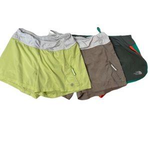 Bundle of 3 Athleta and North Face Running Shorts